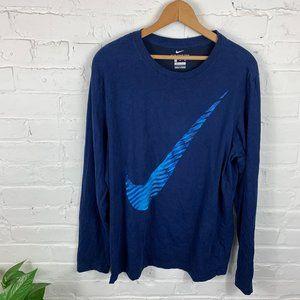 Nike Compression Long Sleeve T-Shirt Blue Size XL